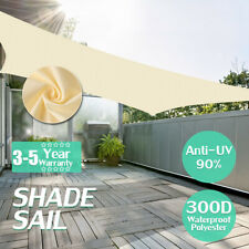 280GSM/300D Triangle Sun Shade Sail Garden Patio Awning Canopy Sunscreen Sail C