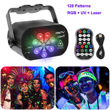Sound Active Laser Stage Lighting UV RGB LED Projector DJ Disco Light Xmas Party