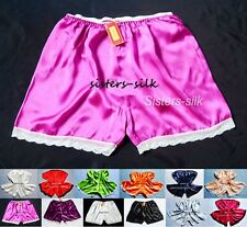 Womens Ladies Girls 100% Pure Silk French Knickers Shorts SU118