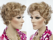 Best Quality Short Blonde Wavy Wig Skin Top Tapered BN