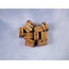 10 x Single Walnut Blocks For Model Ships Rigging