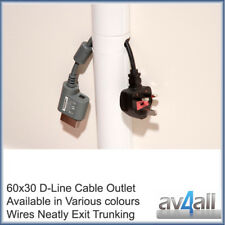 D-Line 60x30 Cable Outlet for Hide Wire Covers Trunking