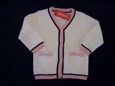 NWT Girls Gymboree Tres Fabulous ivory button up sweater ~ 3-6 month 4 4T