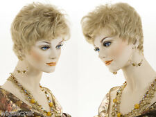 Short Red Straight Monofilament Hand Tied Petite Wig