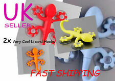 2 x Lizard Suction Hook, Kitchen, Bathroom, Car Gecko