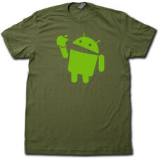 Android Eats Apple Super Soft Cotton T-Shirt FUNNY & Nerdy computer geek TSHIRT!