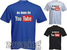 AS SEEN ON YOU TUBE T-SHIRT YOUTUBE FUNNY MUSIC ACTING