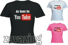 AS SEEN ON YOU TUBE LADY T-SHIRT YOUTUBE MUSIC ACTING