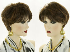 Short Straight Chic Pixie Style Wig Classic Salon Cut Red Blonde White Brunette