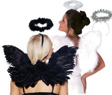 Wings & Halo /Black Feather /White Feather /Silver Halloween Costume Accessories