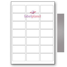 21 Per Page Blank Metallic Silver Adhesive A4 Laser Printer Labels Label Planet®