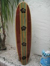 Hibiscus Flower Decorative Wood Surfboard Wall Art  with epoxy finish