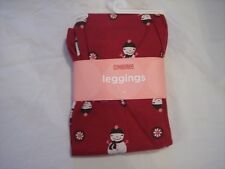 NWT Girl's Gymboree Alpine Sweetie red snowman leggings ~ 6 12 18 24 months 3 3T
