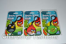 ANGRY BIRDS Plastic Keychain Backpack Clip RED BLACK BIRD PIG Stocking Stuffer