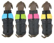 Large Dog Winter Quilted Puffer Puffa Vest Coat Jacket Body Warmer Pink Blue