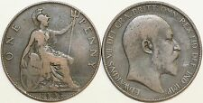 1902 to 1910 Edward VII Bronze Penny Your Choice of Date