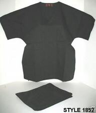 BLACK MEDICAL/ NURSE SCRUB SET UNIFORM UNIXEX