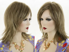 Classic, Soft, Straight, Layered Mid Length Shag Cut with a Long Side  Wigs