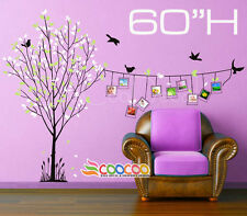 """Wall Decor Decal Sticker Mural Removable Frame Tree 60"""" H DC012560"""
