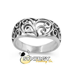 Celtic Heart Ring - .925 Sterling Silver - Sizes 6 7 8 9 10