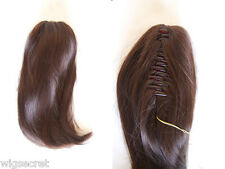 Reversible Hair Piece Claw Clip with Straight Hairt Clip-in-Extensions 12 in