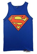 Superman Classic Logo Officially Licensed Adult Royal Tank Top Shirt S-2XL