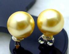 SALE AAA 10MM Multicolor Round Shell Pearl Earring Silver S925 stue-ear155