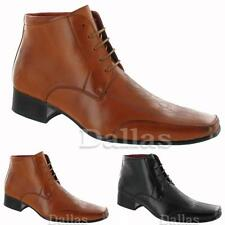 MENS ANKLE BOOTS GENTS CHELSEA FORMAL DRESS SMART OFFICE WEDDING PARTY SHOE SIZE