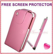 ★★ NEW BABY PINK FLIP PU LEATHER CASE COVER POUCH FOR ALL MAJOR MOBILE PHONES ★★