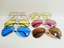 Large Aviator Sunglasses Assorted Lens and Frame Colors Pilot Cop Shades