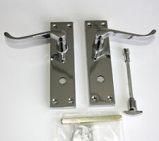 CONTRACT DOOR HANDLES -Victorian Scroll- Bathroom-Chrome -30,15, 5 & 1prs avail;