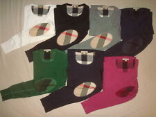 Burberry Brit men Long sleeve crew-neck  t-shirt with check elbows patches $150