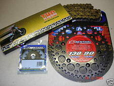 O Ring Chain And Black Renthal Sprocket Kit CR CRF 125/250/450/500 R X Motocross