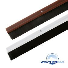 Weatherbar PVC Brush Draught Draft Excluder, Long Lengths & Various Finishes