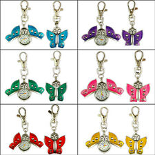 Promotion! High Quality Butterfly KeyChain Ring Quartz Pendant Pocket Watch BG16