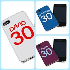 PERSONALISED FOOTBALL SHIRT iPHONE COVER CASE FOR 4&4S, OVER 15 TEAMS gift idea