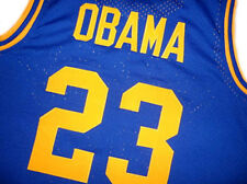 BARACK OBAMA #23 PUNAHOU HIGH SCHOOL BASKETBALL JERSEY BLUE - ALL SIZES