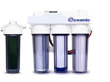Oceanic REVERSE OSMOSIS RO/DI REEF AQUARIUM REEF WATER FILTER 5 STAGE SYSTEM USA