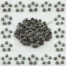 NEW CRYSTAL BIG HOLE EUROPEAN BEADS FINDINGS FIT CHARM BRACELETS WHOLESALE LOTS