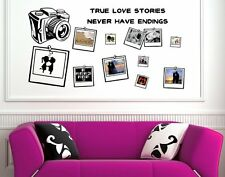 Outstanding Love Friendship Family memory photo album wall decor vinyl decal