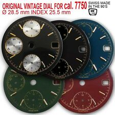 DIAL CHRONO FOR MOVEMENT VALJOUX 7750 (DATE ONLY), Ø 28.5mm, 5 COLORS AVAILABLE!