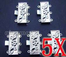 SALE Wholesale 5X Silver Plated 30*15mm rectangle 3 strings Clasp-g150 Free ship