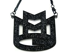 "ICED OUT RICK ROSS MMG MAYBACH MUSIC GROUP PENDANT & 36"" CHAIN NECKLACE HIP HOP"