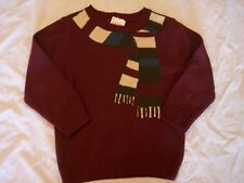 NWT Boy's Gymboree Grizzly Lake bear maroon sweater ~ 6-12 months 4 4T