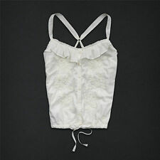 NWT Abercrombie KIDS Girls ALEXIS Cami Blouse Top CREAM Tank 10-12 MED & 14 LG