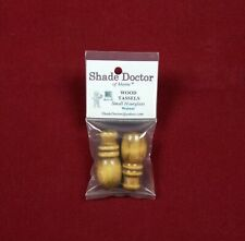 SHADE DOCTOR Roman Shade WOOD BLIND Small Hourglass CORD TASSELS Pull Cord KNOBS