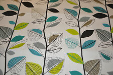 ROMAN BLIND in AUTUMN LEAVES TEAL Prestigious Textiles Fabric MADE TO MEASURE
