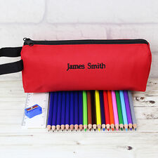 CHILDRENS KIDS PERSONALISED PENCIL CASE Back to School Unusual Unique Gift Idea