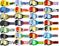 100% Accuri Goggles Motocross MX Off-Road ATV MTB with Mirrored and Clear Lenses