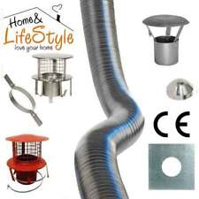 Multifuel Stainless Steel Quality Flexible Chimney Flue Liner & Fitting Kit